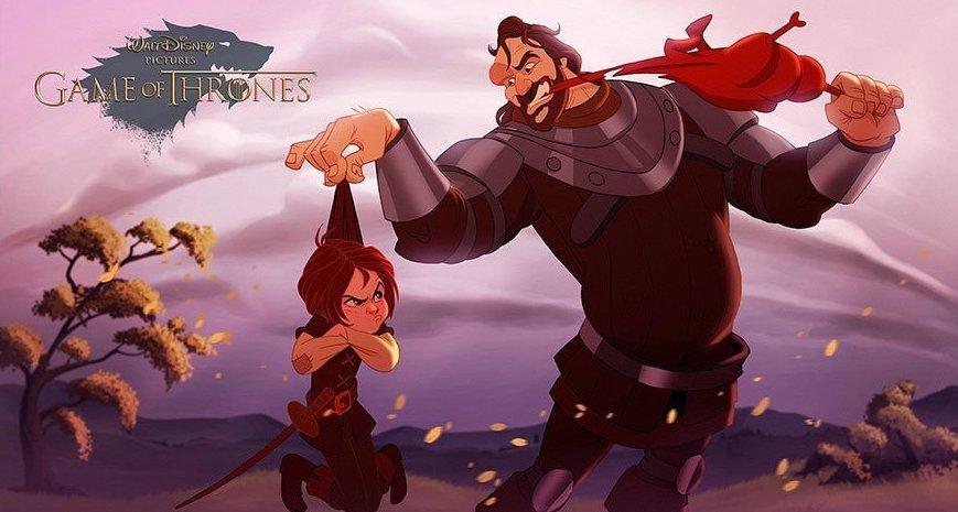 """Как бы выглядели персонажи """"Игры престолов"""", если бы их иллюстрировала студия Disney, Игра престолов, Disney, картинки, красивые картинки, фильмы, сериалы"""