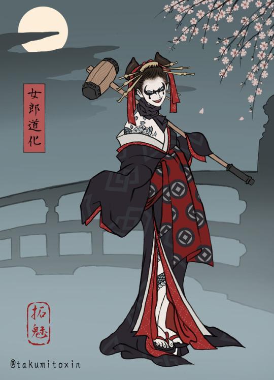 картинки, Batman, Joker, Harley Quinn, японский DC