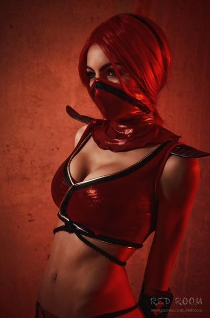 Лана Ронина, Скарлет, Mortal Kombat, Mortal Kombat 9, косплей, cosplay, девушка, фото