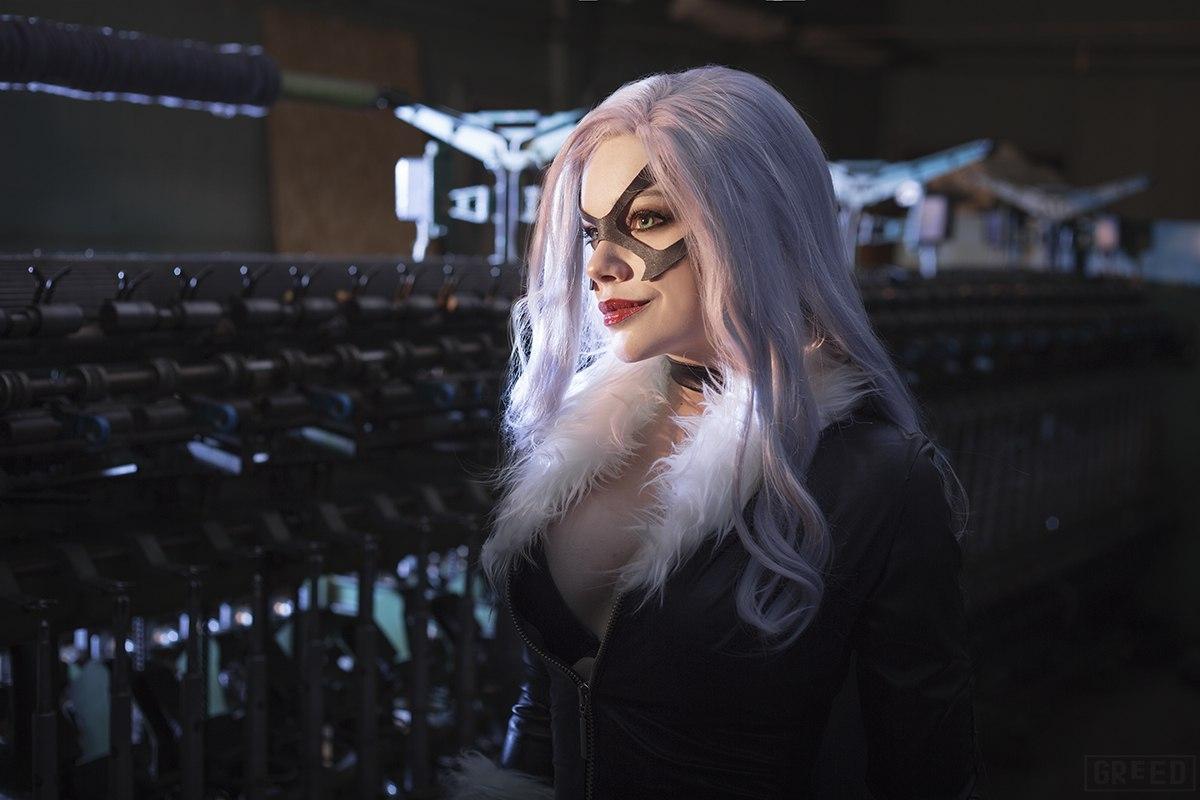 Чёрная Кошка, Marvel, cosplay, косплей, девушка, Катарина Эртель