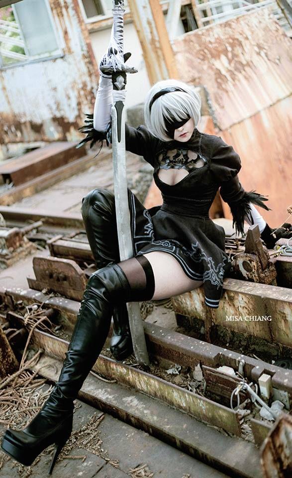 Nier: Automata, 2B, Misa Chiang, cosplay, косплей