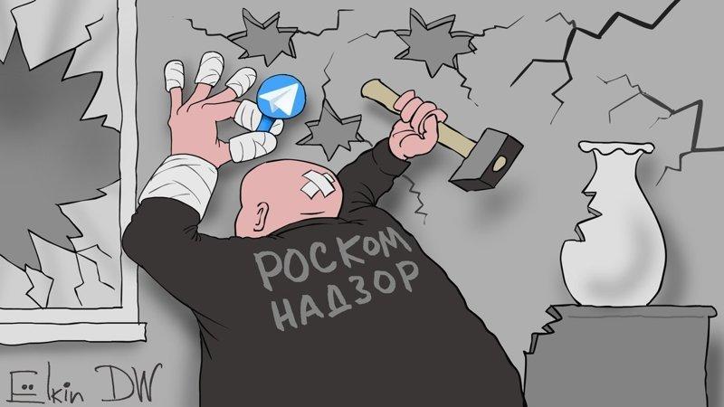 Елкин, Роскомнадзор, Телеграм, политота, Telegram, картинки