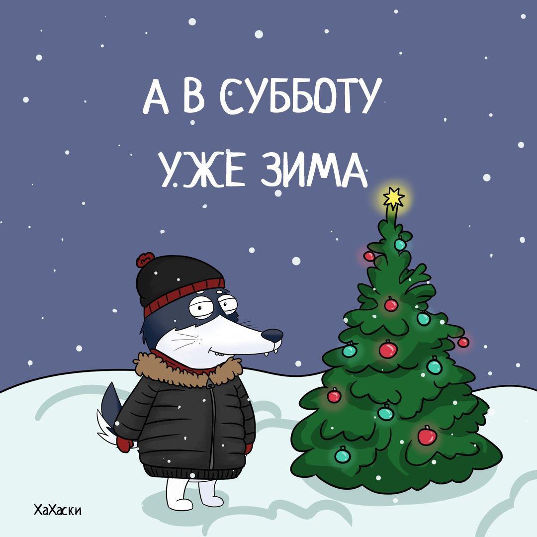 Хахаски, зима