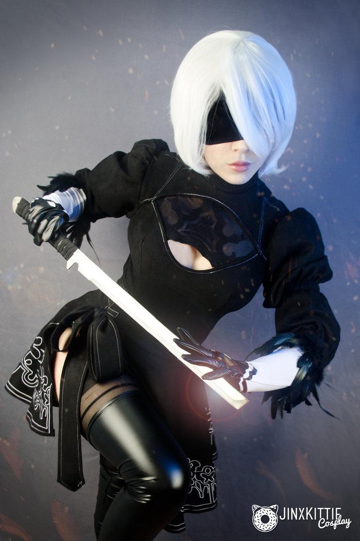 2B, Nier: Automata, cosplay, косплей, JinxKittieCosplay, JinxKittie
