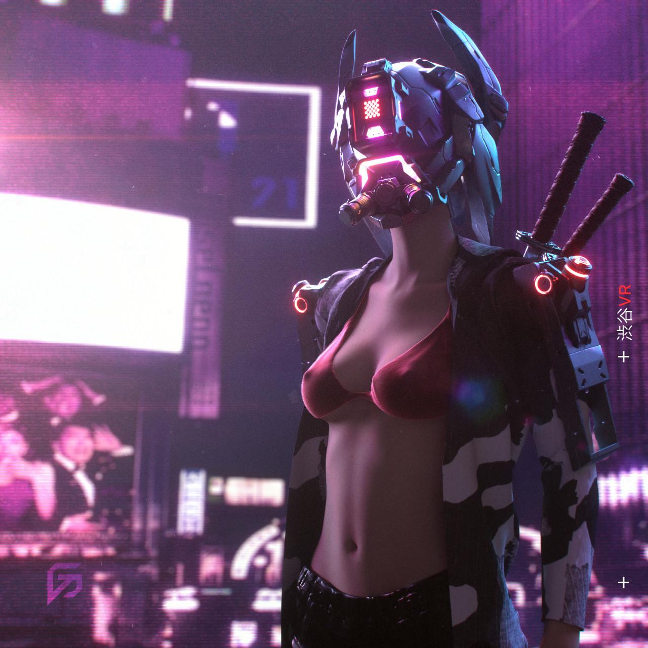 Gabriel Punsalang, gvokerart, киберпанк, cyberpunk, art, арт