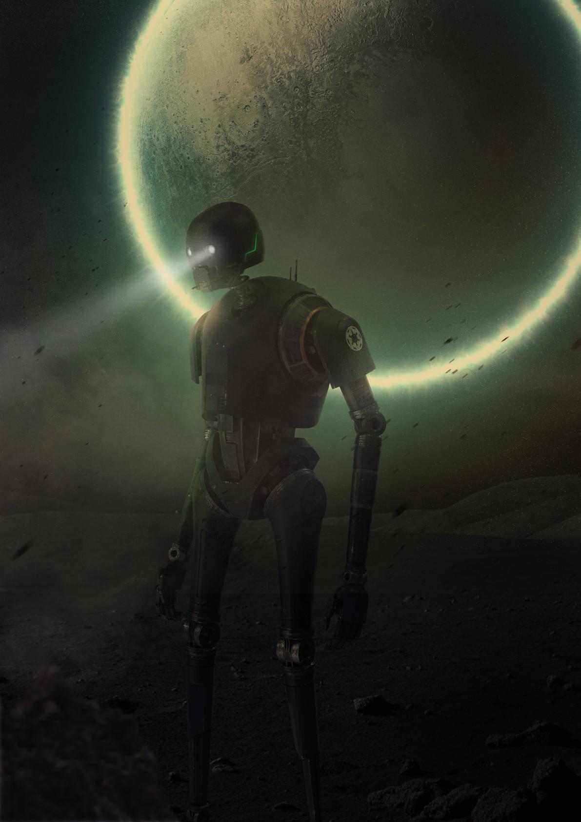 K-2SO - арт от Matt Seff Barnes, арт, кино, фантастика, Звездные войны, Изгой-один, Star Wars, роботы, картинки, Matt Seff Barnes, Изгой-один: Звёздные Войны. Истории, Rogue One: A Star Wars Story