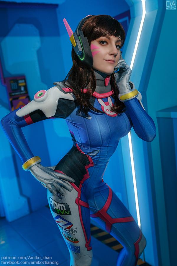 Overwatch, cosplay, косплей, D.VA, игры, Amiko-chan