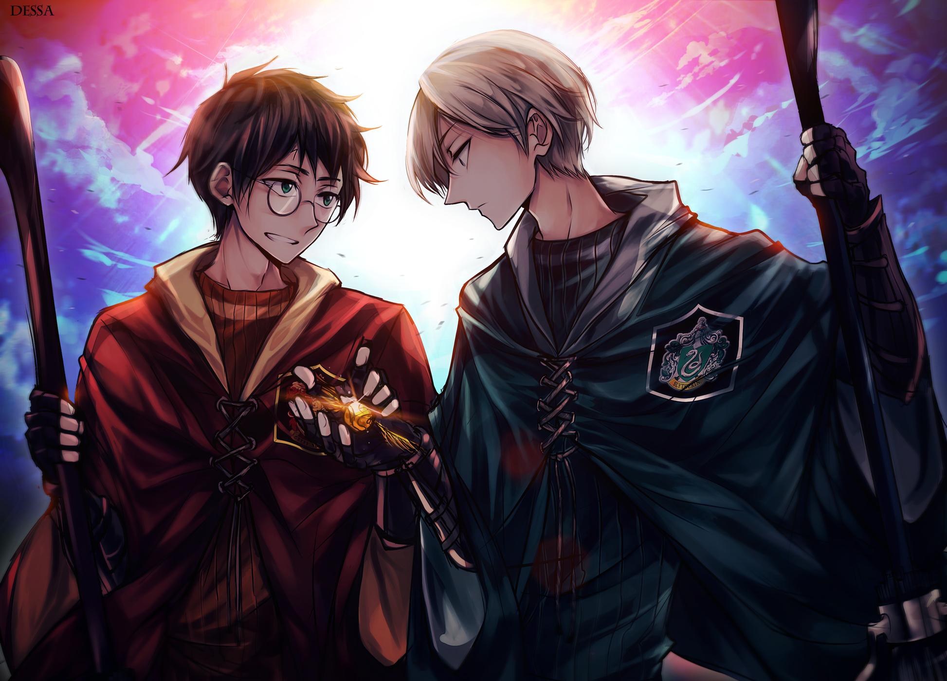 Гарри Поттер, Драко Малфой, арт, art, красивые картинки