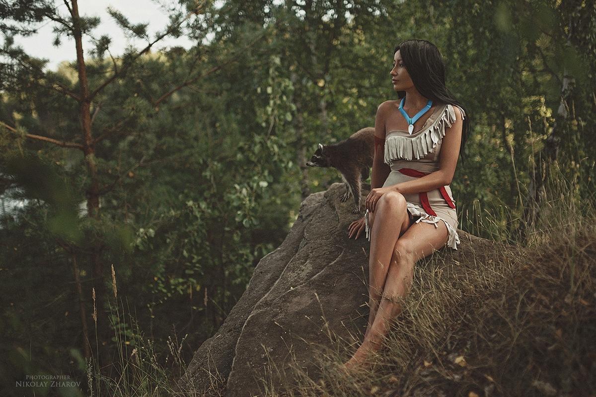 Покахонтас, Pocahontas, косплей, cosplay, Дисней, Disney, мультфильмы, фото, девушка