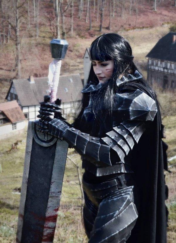 Guts, Berserk, r63, cosplay, косплей