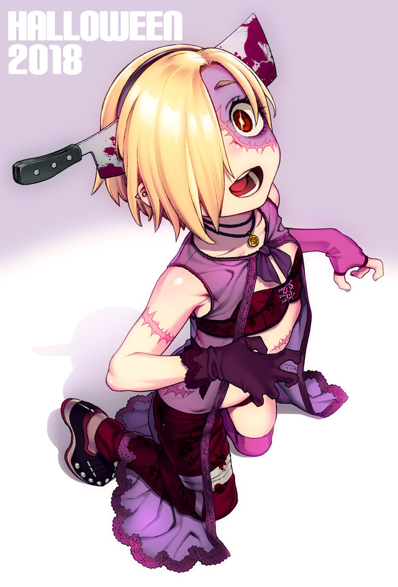 Idolmaster, Хэллоуин, Halloween, Зомби-тян, арт, art, красивые картинки, anime