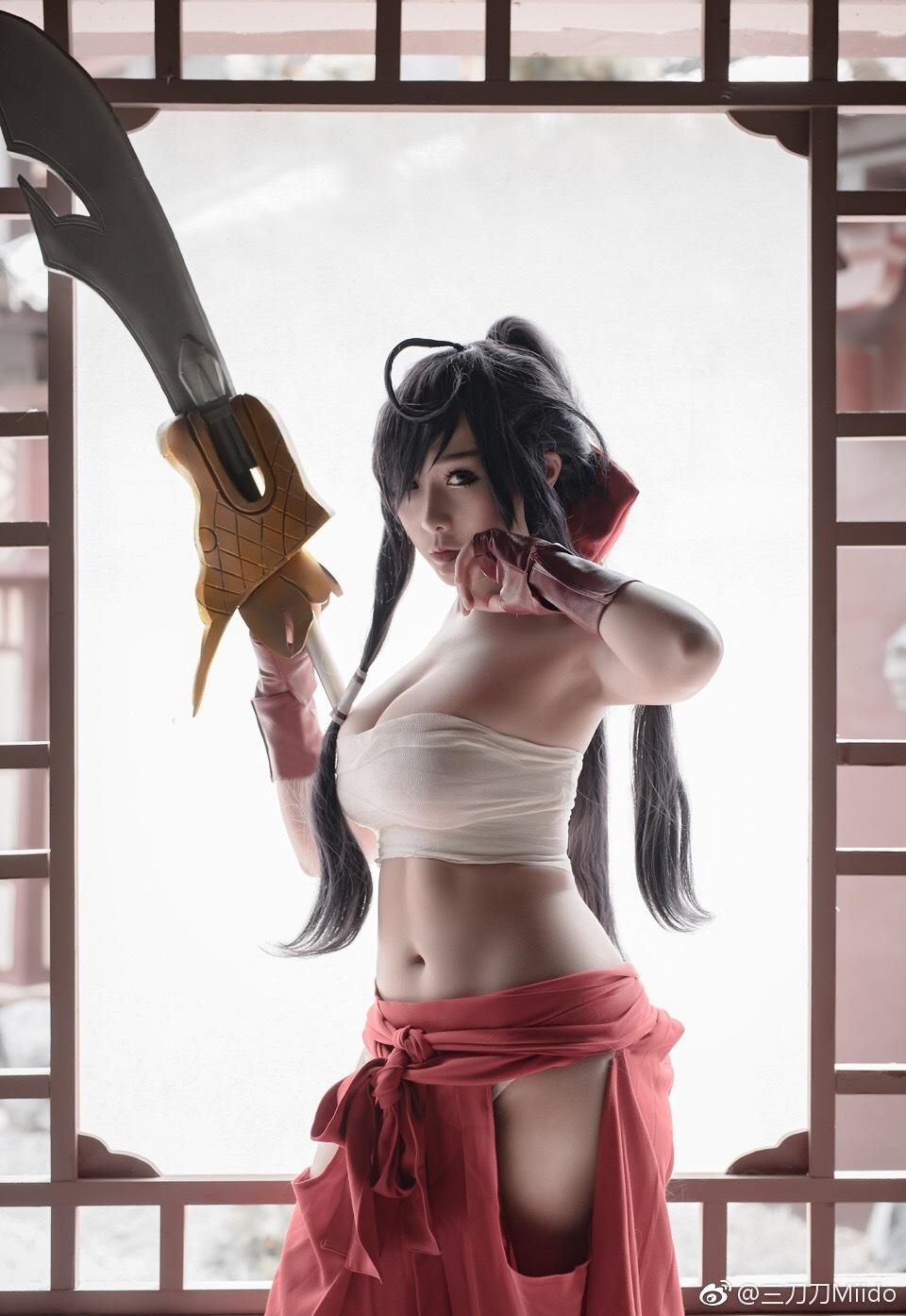 Unchou Kanu, 三刀刀Miido, фото, косплей, девушка, Ikkitousen, cosplay