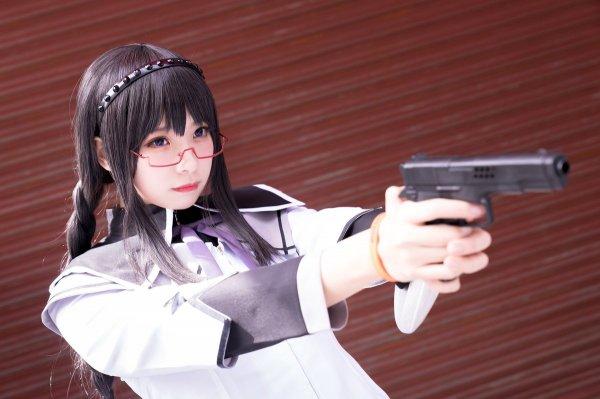 Akemi Homura, cosplay, Sherry фото, косплей, Mahou Shoujo Madoka Magica, Madoka Magica, Мадока Магика, девушка