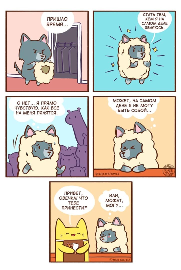 Cat's cafe, комиксы