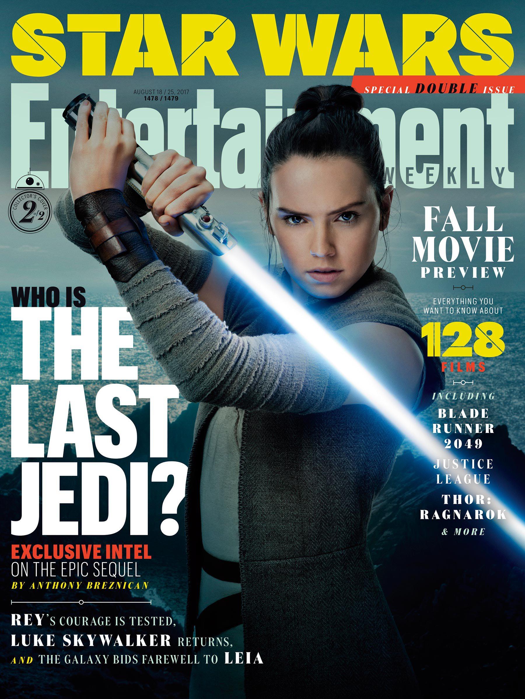 """Журнал Entertainment Weekly представил вариантные обложки своего нового номера, посвященного фильму """"Звёздные Войны: Последние джедаи"""", Star Wars: The Last Jedi, Звёздные Войны: Последние джедаи, Entertainment Weekly, журнал"""
