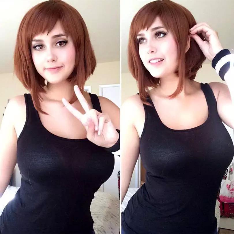 Uraraka Ochako, Boku no Hero Academia, Anime Cosplay, косплей, девушки