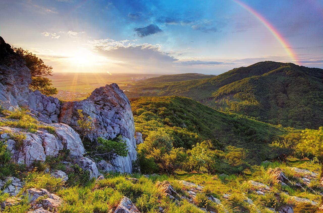 фото, природа, радуга