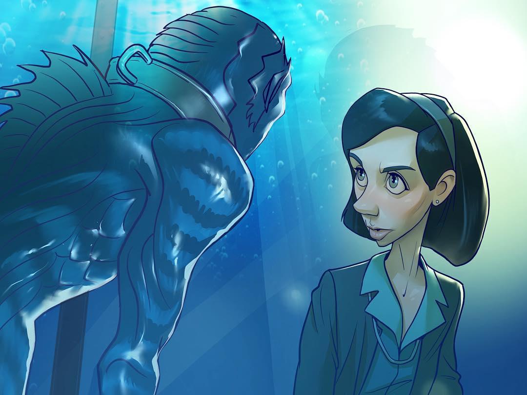 Shape of Water, Форма воды, xidingart, арт, art, красивые картинки, фильмы