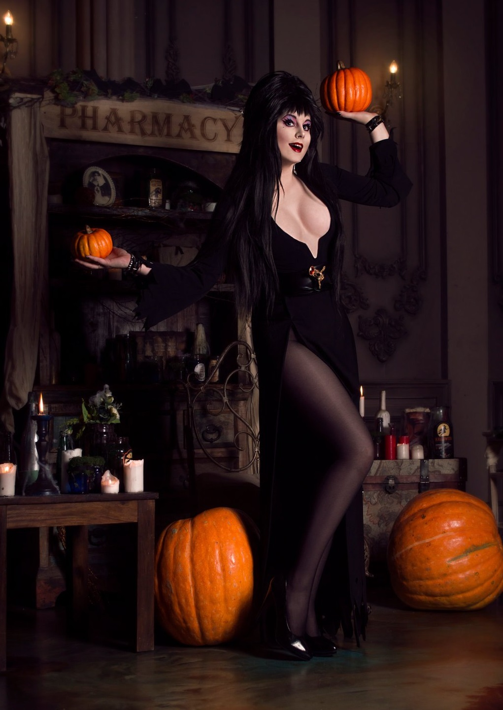 Elvira, cosplay, косплей, Mistress of the Dark, фото, девушка