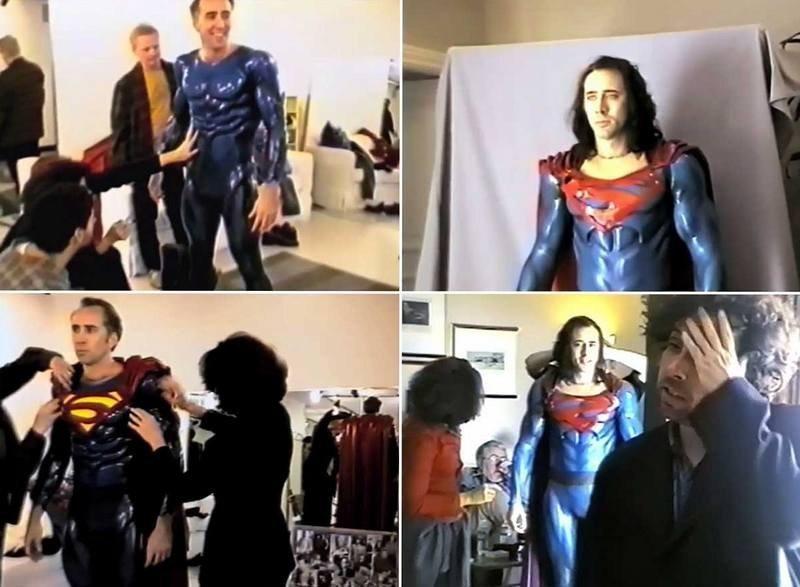 Николас Кейдж, Супермен жив (фильм), Супермен, Тим Бертон, фильмы, фото