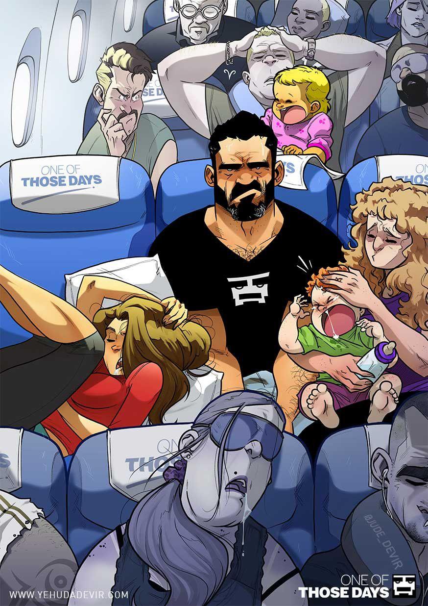 Yehuda Devir, комиксы, самолет, картинки, прикольные картинки
