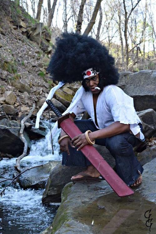 Афро Самурай, Afro samurai, anime, cosplay, косплей