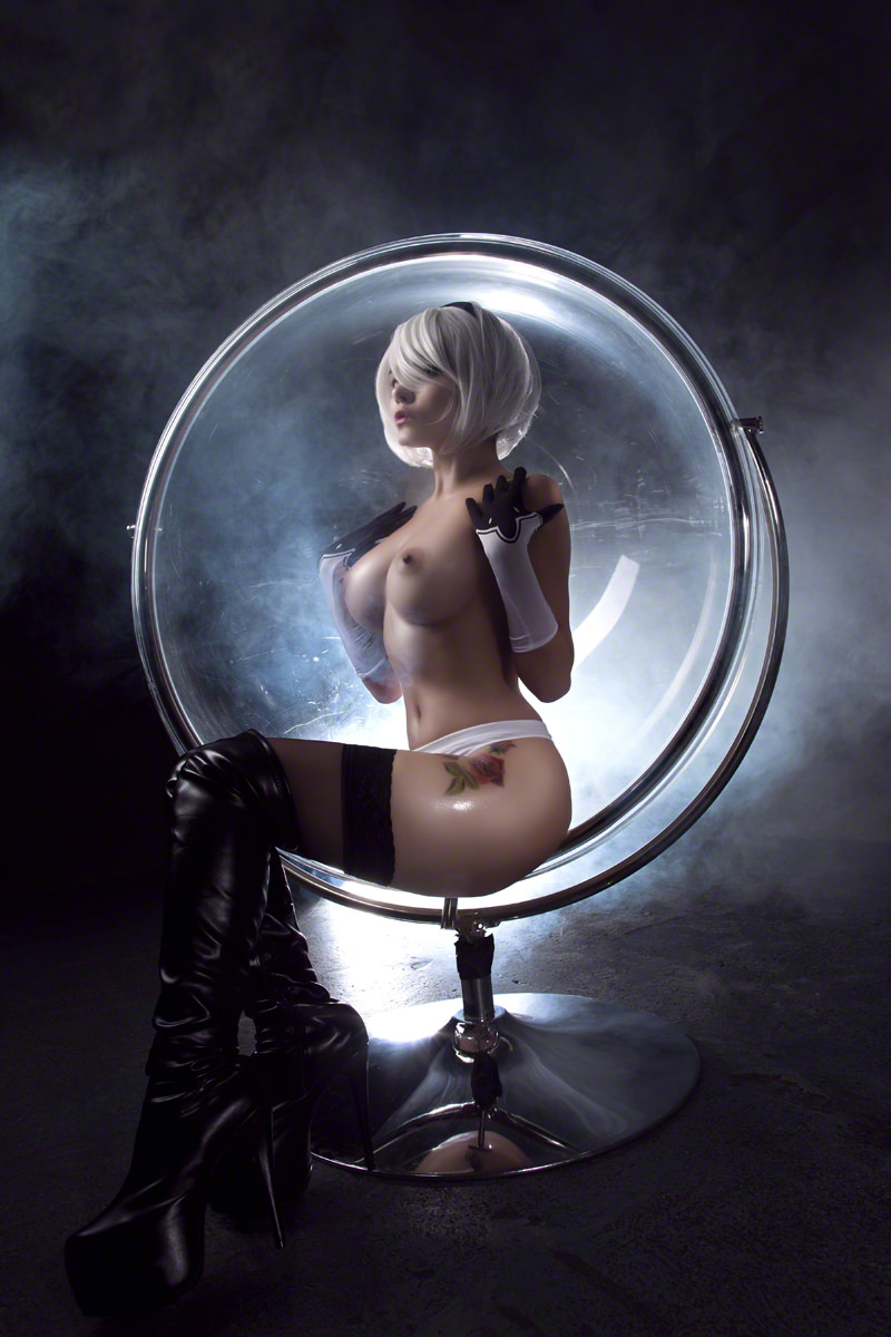 Кристина Финк, ero cosplay, cosplay, косплей, NieR: Automata, игры, YoRHa No.2 Type B