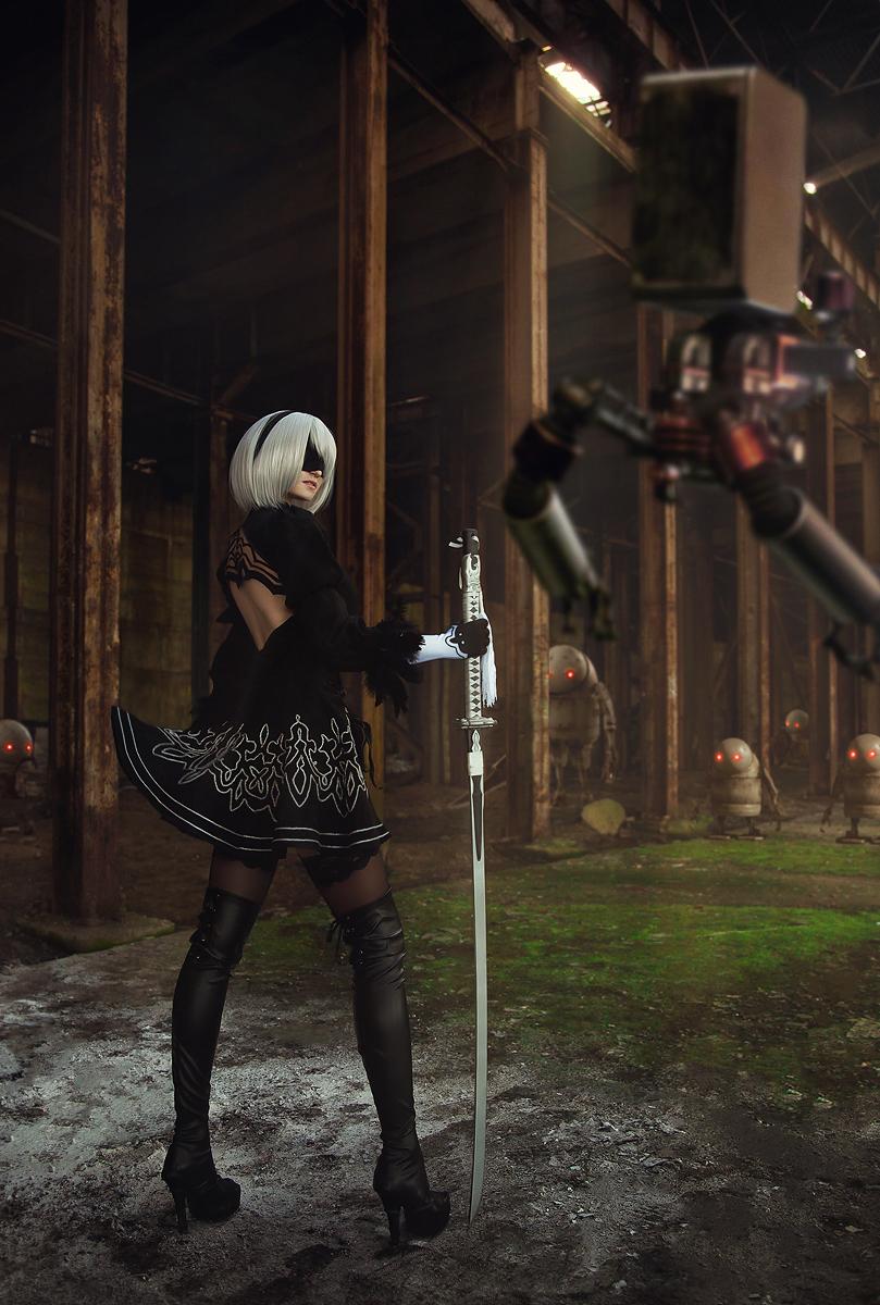 Nier: Automata, Yorha No.2 Type B, cosplay, косплей, Claire Sea, игры