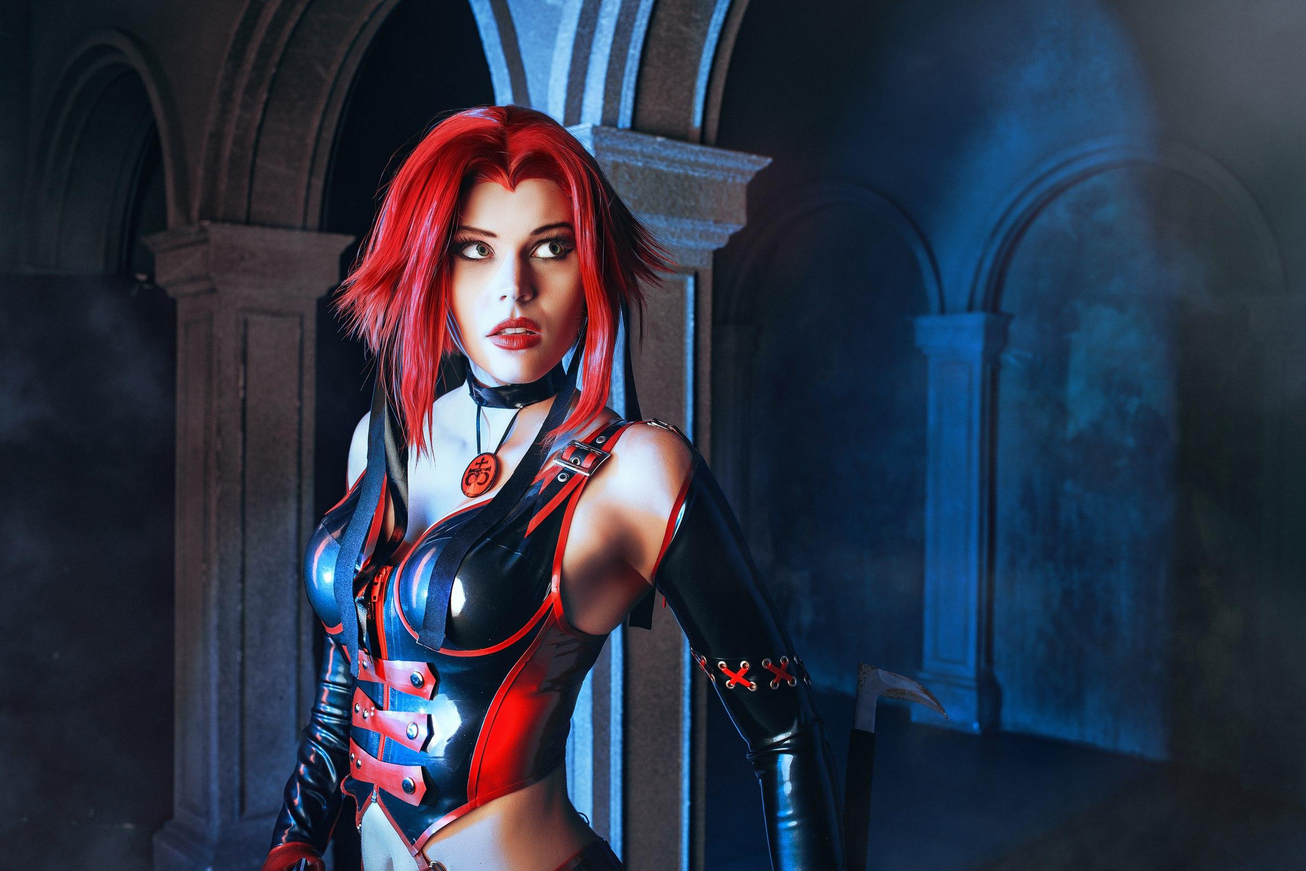 Bloodrayne, cosplay, косплей, девушка, игры, фильмы
