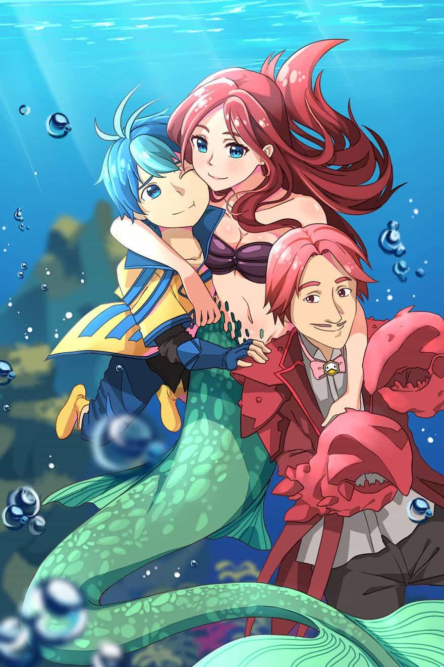 Disney, аниме, anime, Русалочка, картинки, красивые картинки