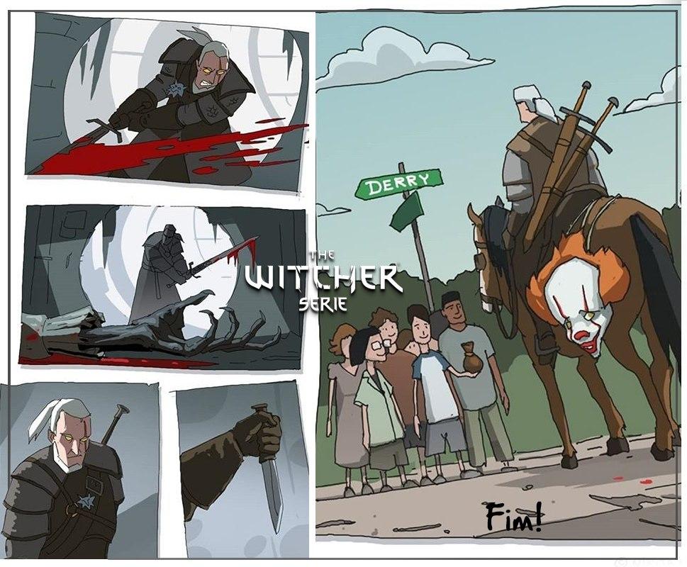 The Witcher, Witcher, Ведьмак, crossover, оно, IT, комиксы, картинки
