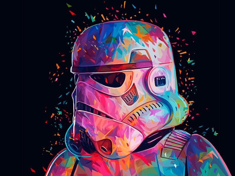 Star wars, Звездные войны, арт, art, Darth Vader, Дарт Вейдер, Дарт Мол, Йода, Штурмовик, Боба Фетт, Alessandro Pautasso