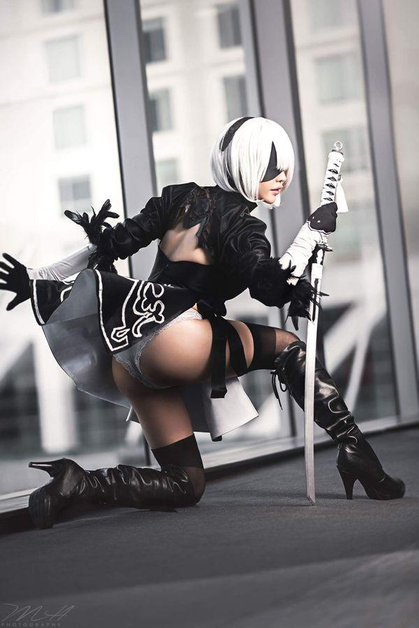 Nier: Automata, Vivid Vision, 2B, косплей, cosplay