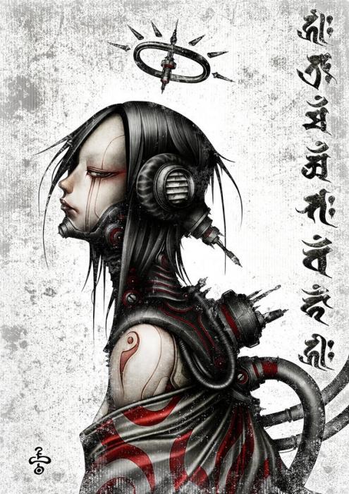 shichigoro, киберпанк, anime