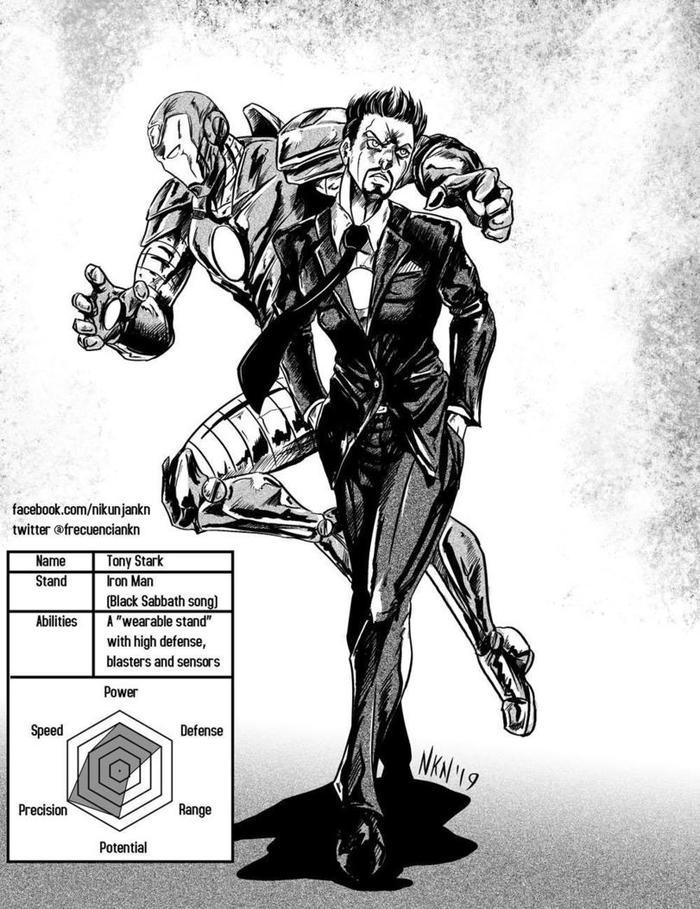 Tony Stark, Iron Man, JOJO, картинки