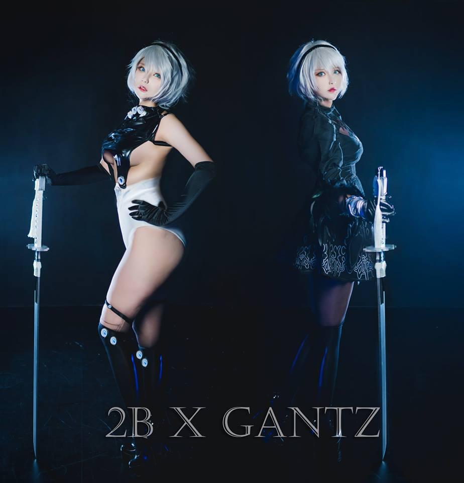 фото, девушка, косплей, cosplay, Nier: Automata, Nier Automata, gantz, 2B, Hiroko Akutagawa