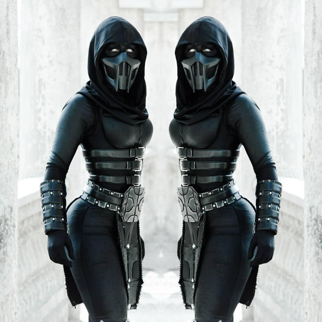 Noob Saibot, Mortal Kombat, Rule 63, justyeliz, косплей, cosplay, MK Cosplay