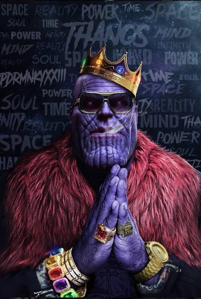 Танос, Thanos, арт, art, красивые картинки, Война бесконечности