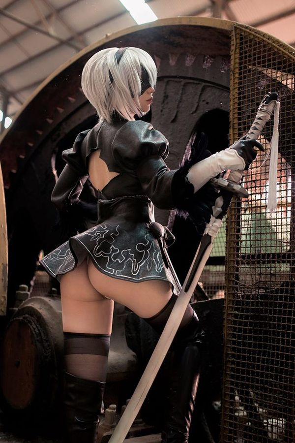 Nier: Automata, Chihiro, косплей, cosplay