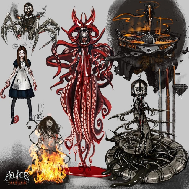 Alice Madness Returns, American Mcgee's Alice, игры, Omri Koresh, Alice Asulum